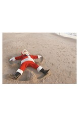 Santa Snow Angel in Sand