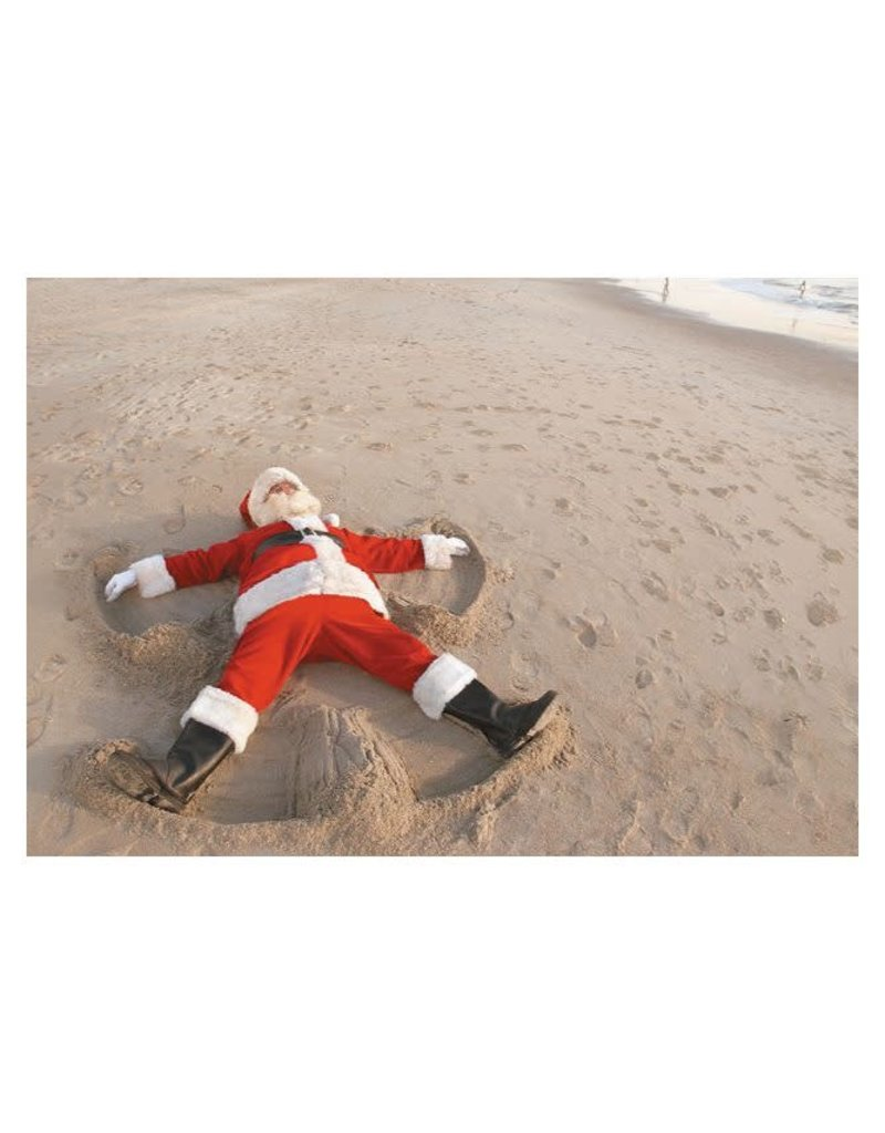 Card BX Santa Snow Angel in Sand
