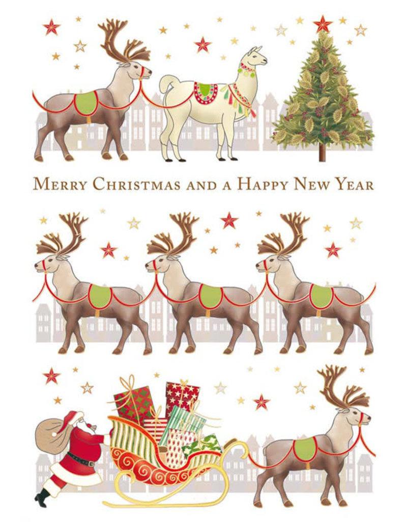 Card XMAS Reindeer in a Row