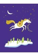 Card XMAS Holiday Unicorn