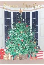 Card XMAS Metallic Tree