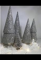 """Tree Double Cone 17"""" Silver"""