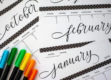 Mini Calendars