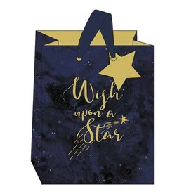 Gift Bag Med Wish Upon a Star Blue