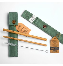 Bamboo Step Straw Travel Kit - Asst. Fabric Patterns