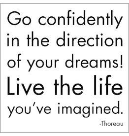 MAGNET Go Confidently - Thoreau