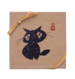 Haiku Cats Card BX Sm Blk Cat