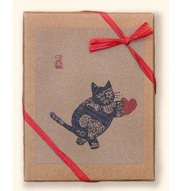 Haiku Cats Card BX Heart Blk Cat