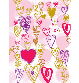 Card EASTER Hearts All My Love