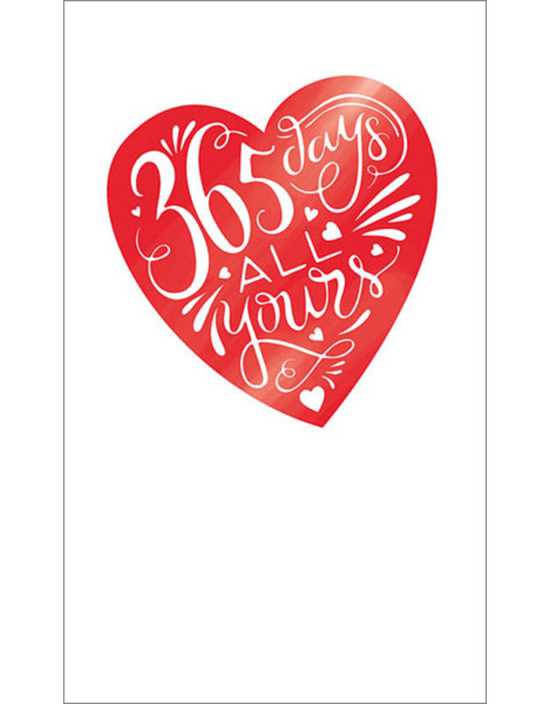 Card VDAY 365 Days All Yours