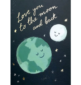 Card VDAY Love You To The Moon and Back
