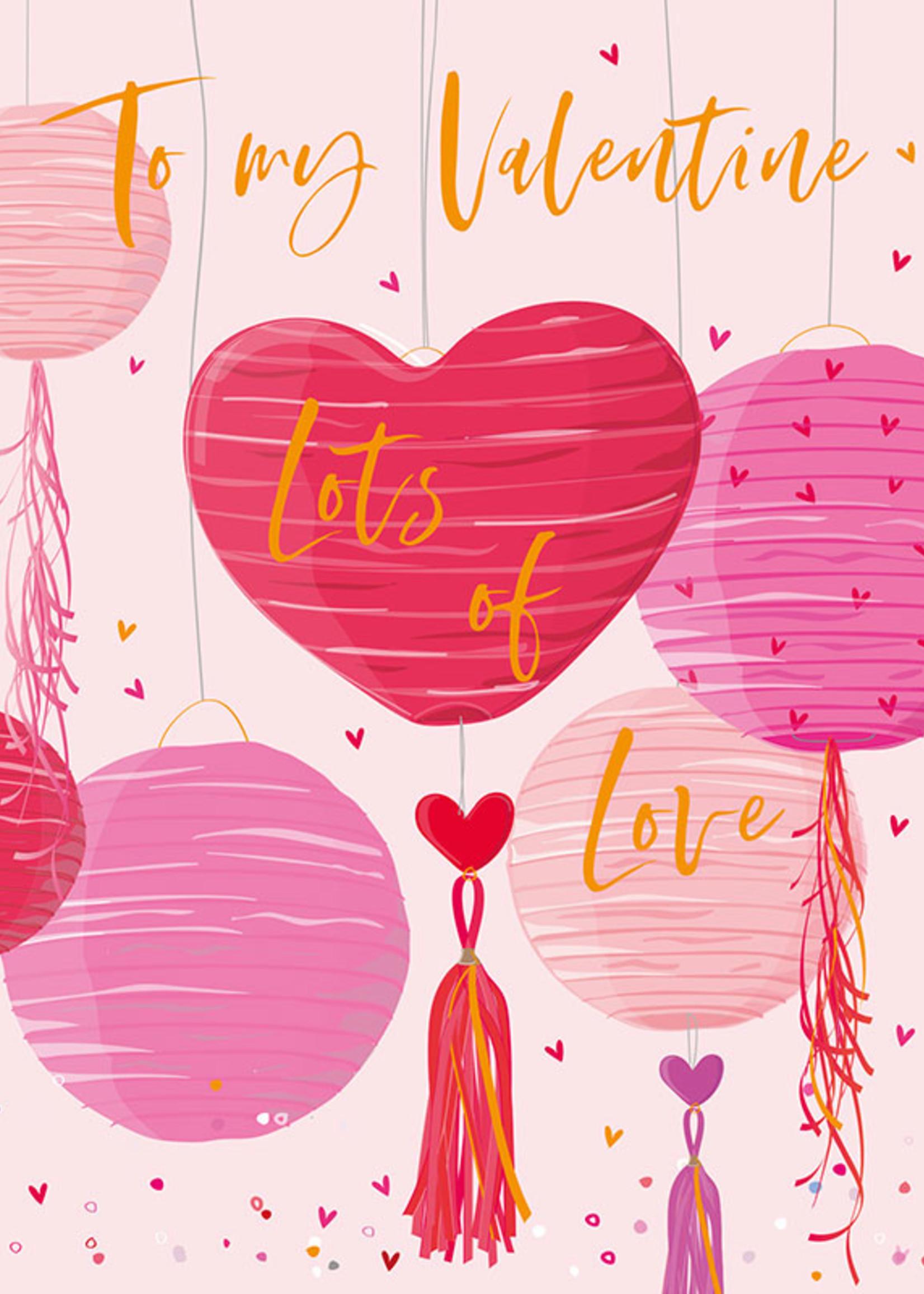 Card VDAY Heart Balloons