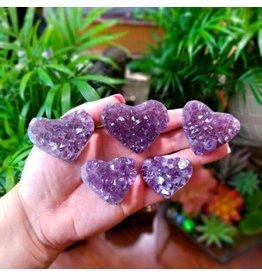 Heart - Amethyst Cluster Sm