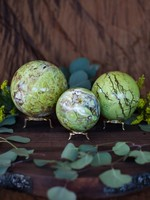 Green Opal Sphere Md-Lg