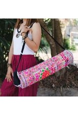 Yoga Bag Embroidered Fabric Pink Hmong