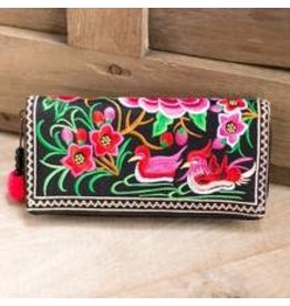 Embroidered Wallet Multi Hmong