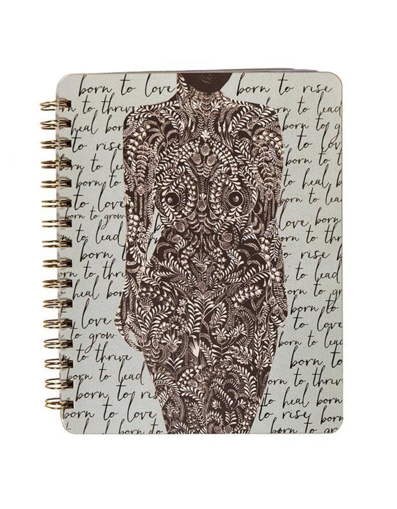 Spiral Notebook Living Woman