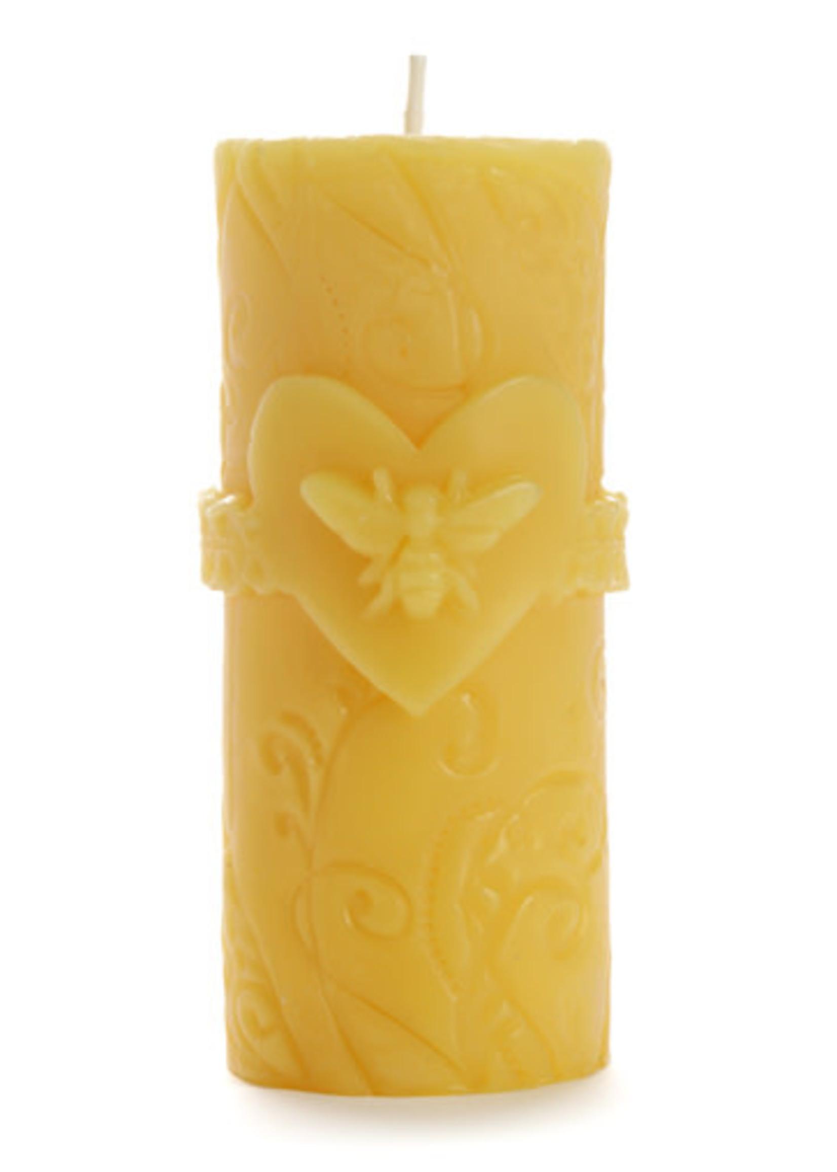 Beeswax Bee Love Pillar