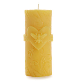 Beeswax Bee Love Pillar
