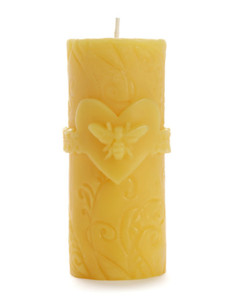 Candle BEESWAX Bee Love Pillar