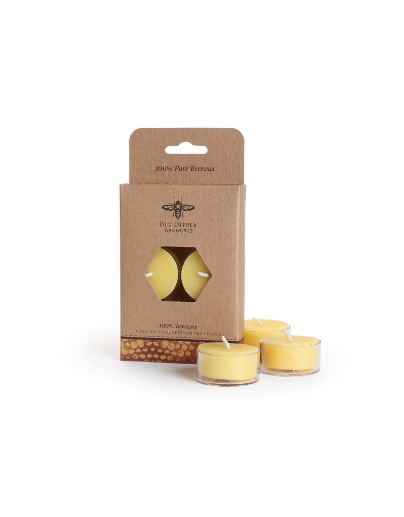 Candle Beeswax T Lights UNSCENTED 6 pk burn time 5 hrs Order Case Qty is 8