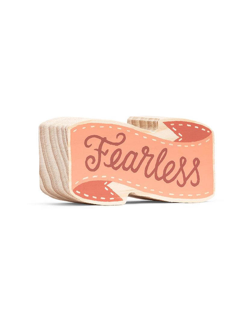 "Wood Sign ""Fearless"" Mini 4x2"
