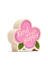 "Wood Sign ""Find Your Happy"" Mini 4x4"
