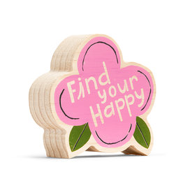 """Wood Sign """"Find Your Happy"""" Mini 4x4"""