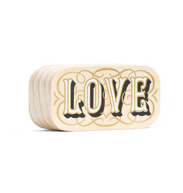 "Wood Sign ""Love"" Mini 4x2"