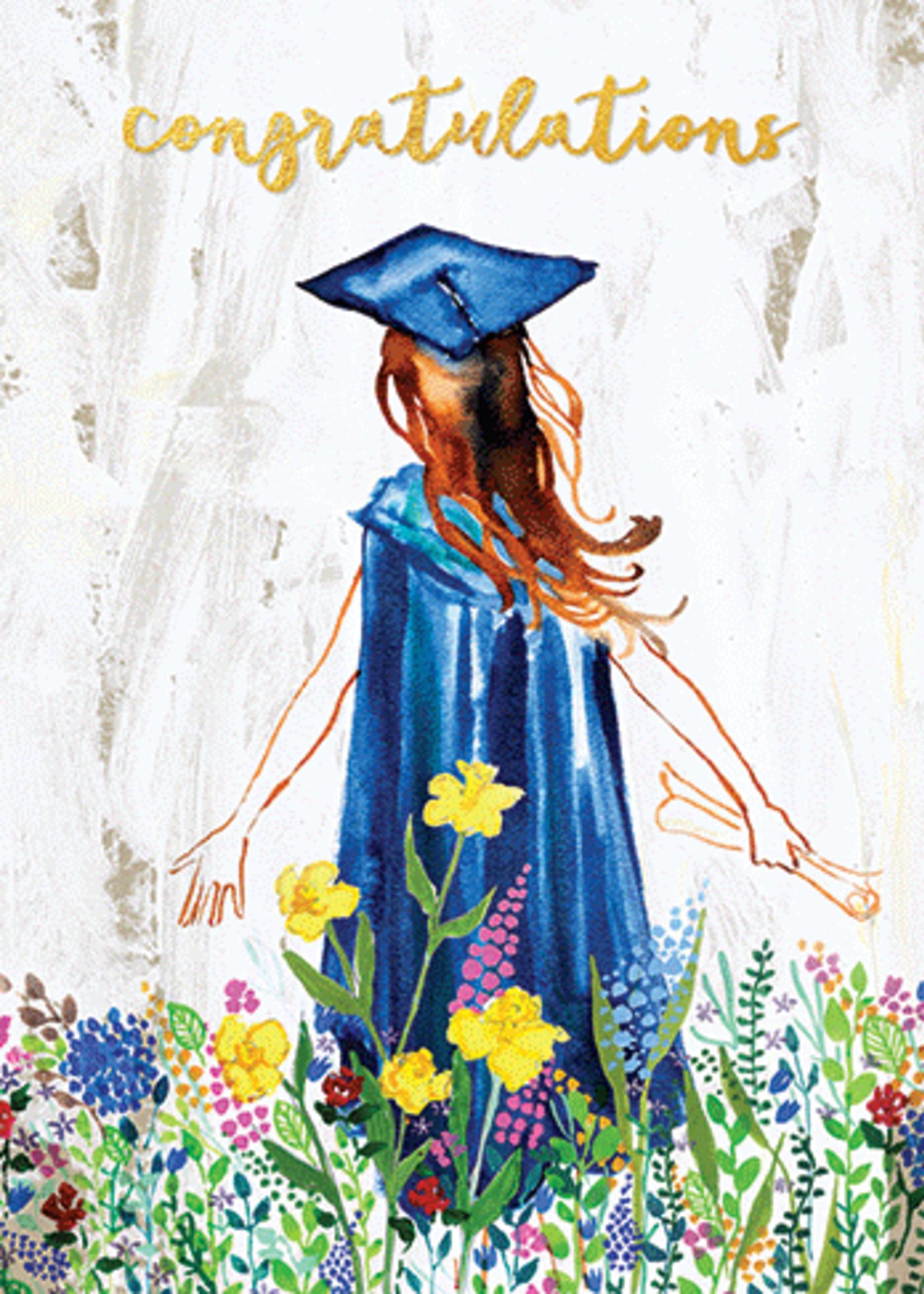 Card GRAD Watercolor Graduate 2