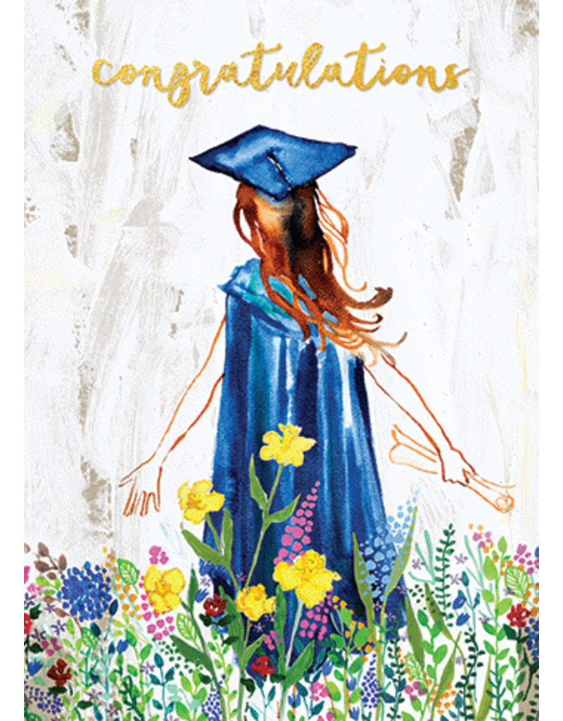 Card GRAD Watercolor Graduate 2