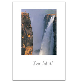 Card Congrat Huge Waterfall You Did It!