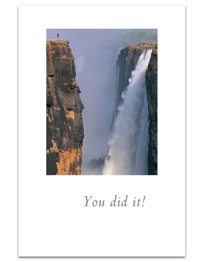 Card Congrat Huge Waterfall You Did It!