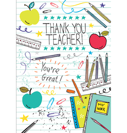 Card For Teacher School Supplies