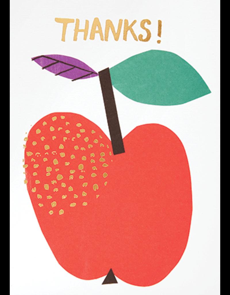 Card For Teacher Apple Thanks! *