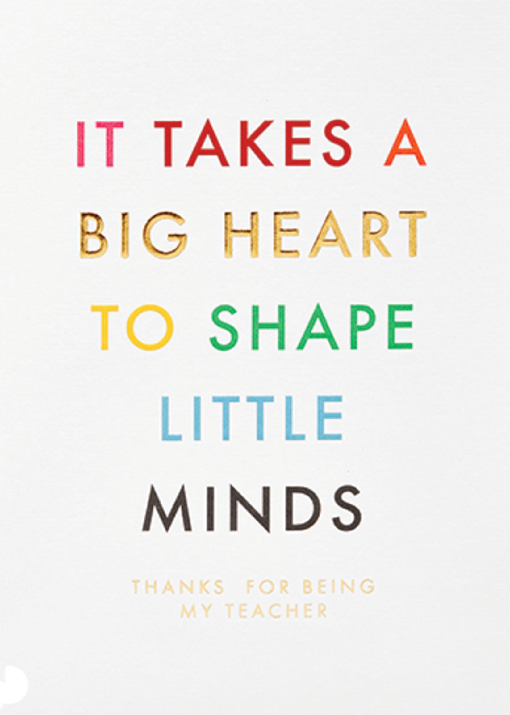 Card For Teacher Big Heart