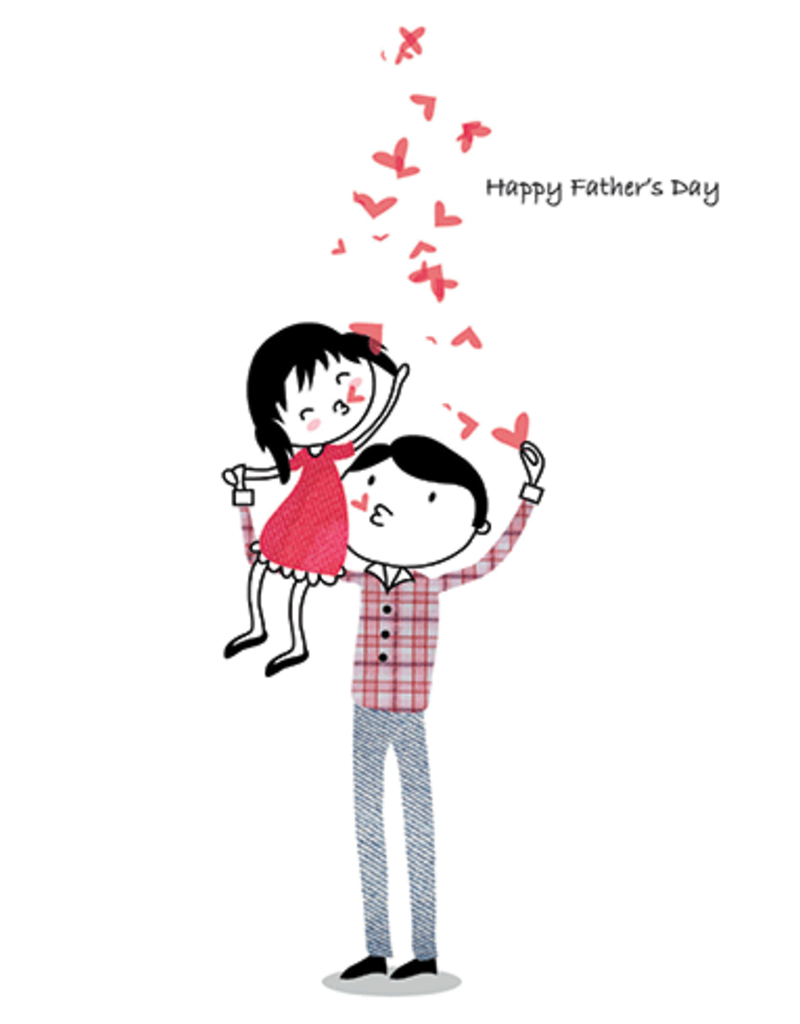 CARD Fday Father's Day Hearts