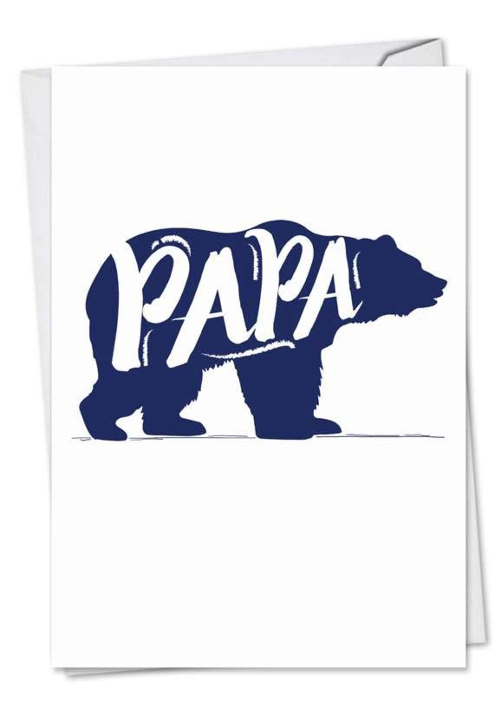 Card FDay Papa Bear