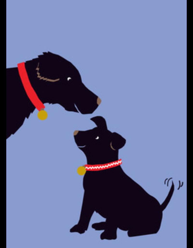 Card FDAY Blk Dogs