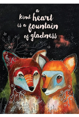 Card FRIEND Fountain of Gladness Foxes *