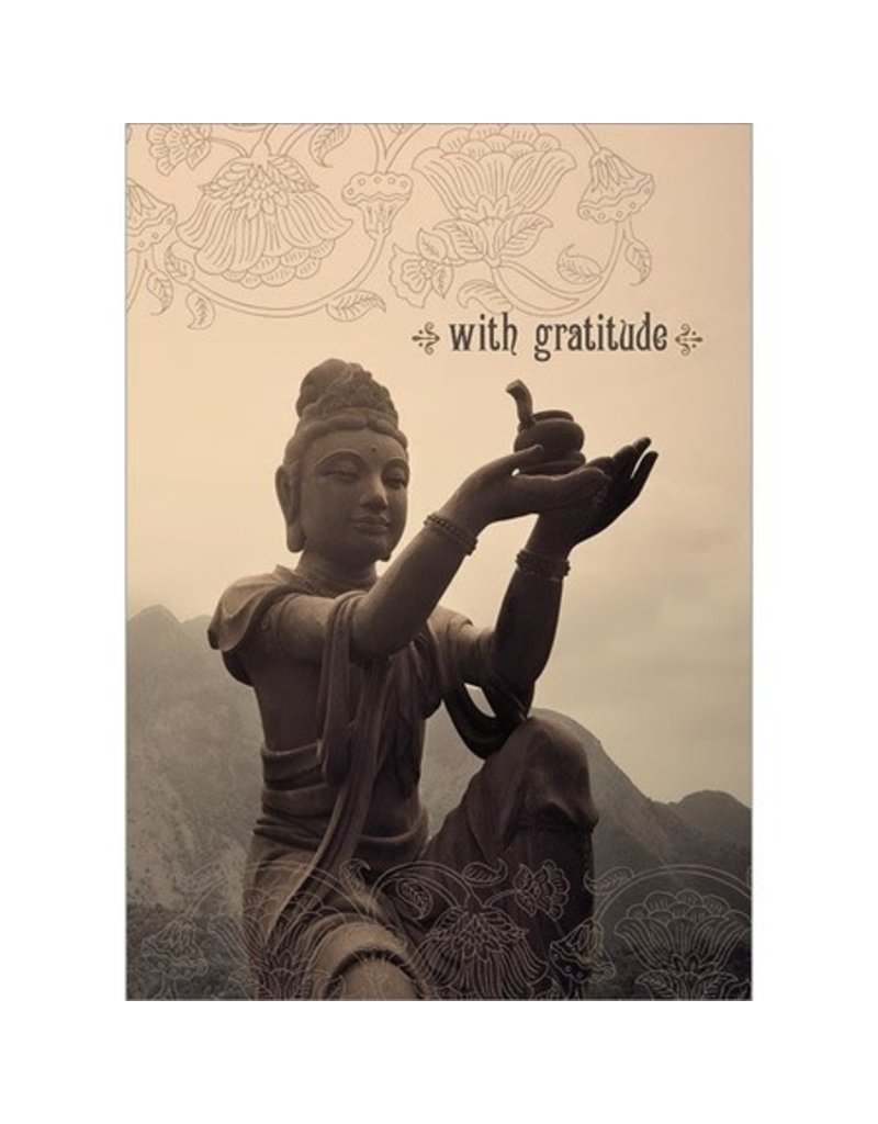 Card TY Buddha With Gratitude