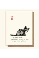 Haiku Cats Card BL Hairball Cat