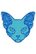 "BUMPER STICKER, BLUE SPHINX CAT (4.25x4"")"
