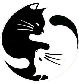 "BS Yin Yang Cat 4.5"" Round"