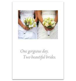 Card GAY WED 2 Brides *