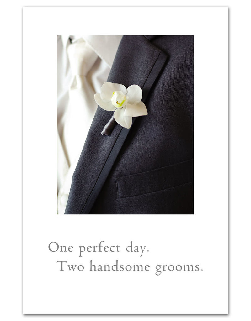 Card GAY WED 2 Grooms