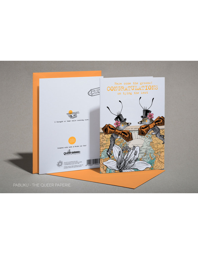 Card GAY WED Tying The Knot (Grooms) *