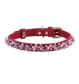 Collar Pink Qtz Rhodonite Beaded