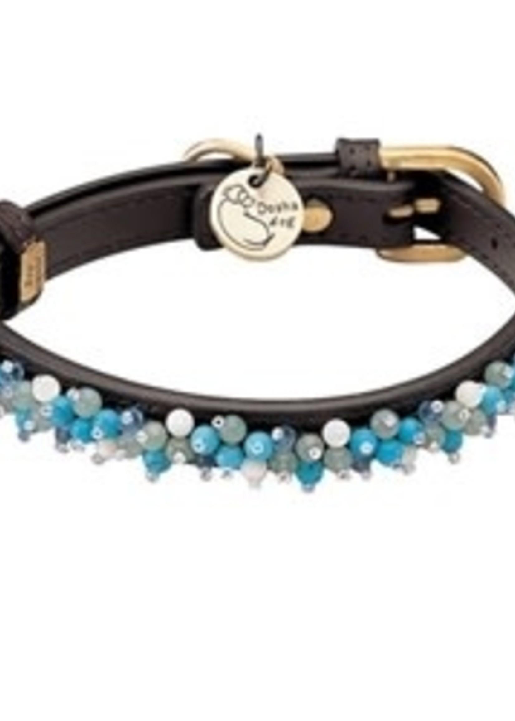 Collar Beaded Aventurine & Turq SM