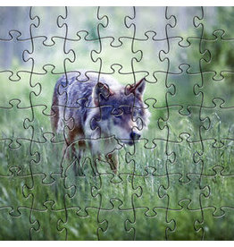 Puzzle Wooden Mini  Alpha Wolf 50 Pieces
